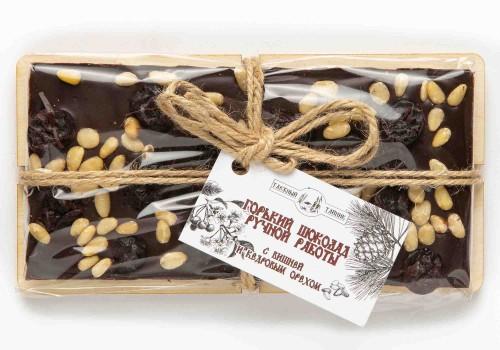 Шоколад горький с вишней и кедровым орехом 100г
