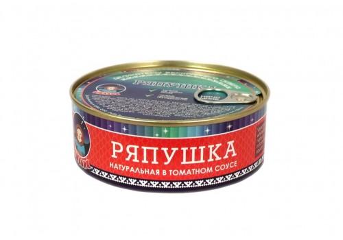 РЯПУШКА (нат. в томат. соусе)  240 ГР ГОСТ 7455-2013
