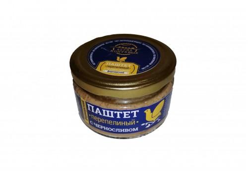 Паштет фермерский  Перепелиный  с черносливом 200 гр.