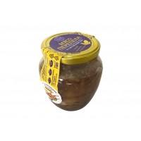 Мясо перепела в собственном соку с медом базиликом и чесноком 500 гр.